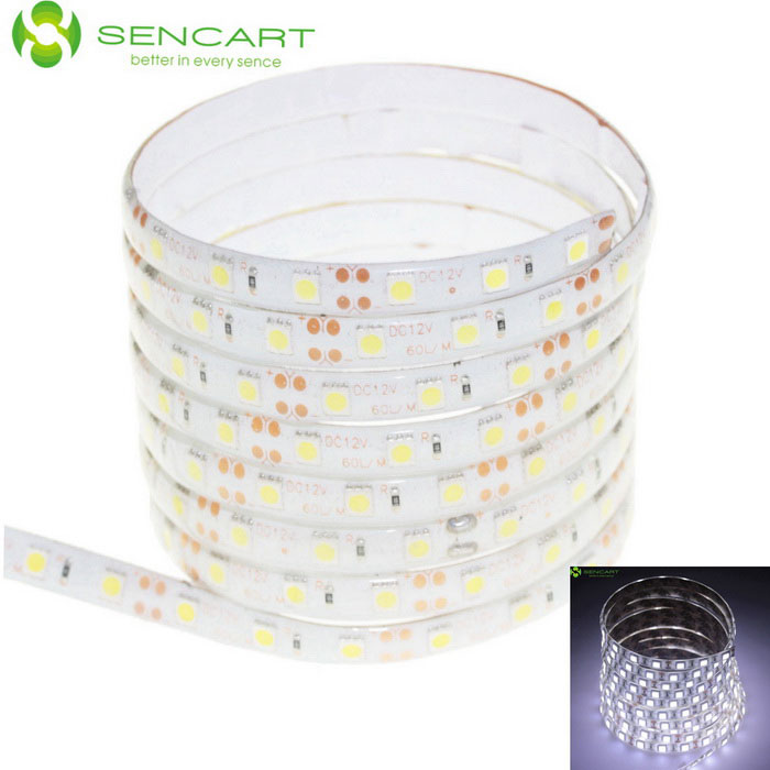 75W Waterproof LED Light Strip Cold White 300-SMD 4500lm - White (5m)