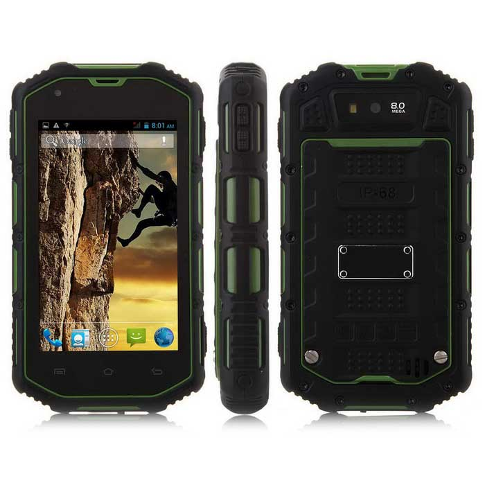 H5 android 4.4 dual-core 3G-telefoon w / 512MB RAM, 4GB ROM - groen
