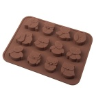 Pöllö Style 12 - Cup DIY silikoni Chocolate / kakku / Soap Mold - Chocolate