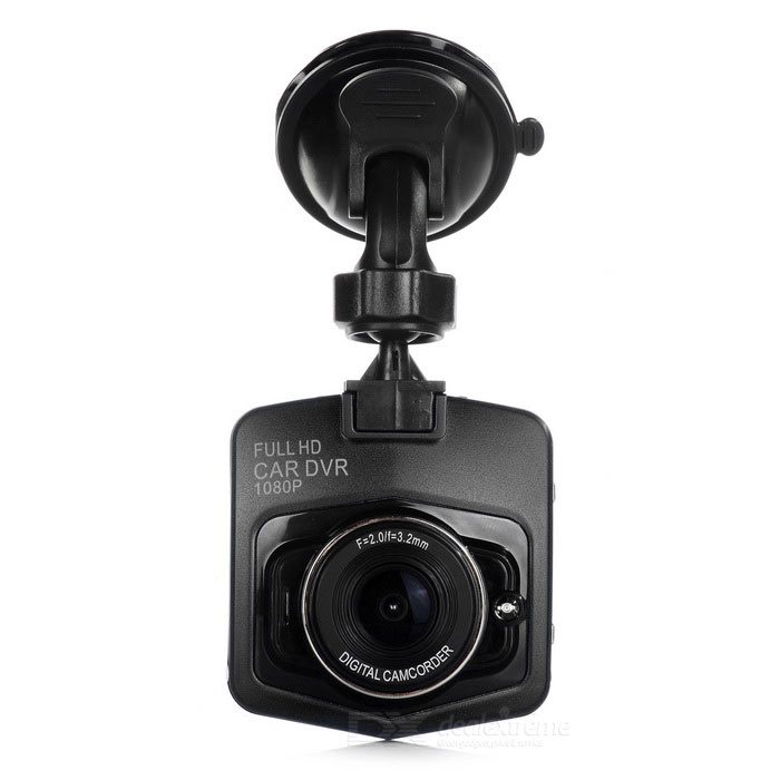 "2.3"" TFT 1080P 170"" Wide-Angle LED IR Night Vision Car DVR - Black"