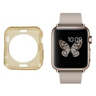 Protective TPU Dial Screen Protector Case for APPLE WATCH 38mm - Translucent Tan