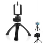 ROCK 360 Degree Rotation Folding Stand Tripod w/ Bracket Frame for Cell Phones - Black