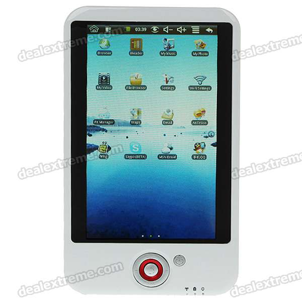 "M001 7"" Touch Screen TFT LCD Google Android 1.6 Tablet PC w/ WiFi (VIA MW8505/300MHz)"
