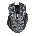 FN-761 6-Key 800DPI / 1200DPI / 1600DPI Wireless USB 2.0 LED Gaming Mouse - Black + White