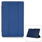 Stylish 3-Fold Protective PU Case w/ Stand for CHUWI V10HD - Sapphire Blue