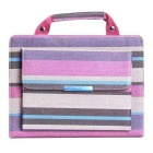 Fashionable Striped Handbag Style PU Leather Protective Case w/ Auto Sleep for IPAD AIR 2