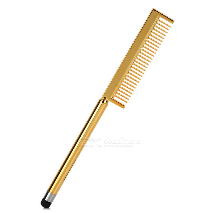Fashionable Universal Comb Style Capacitive Screen Stylus - Golden