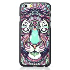 Fashion Tiger Painted Back Case for IPHONE 6 - Black + Multicolor