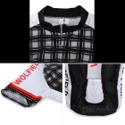 WOLFBIKE BC412 Men'sShort Cycling Jersey Suit - Black + White (Size M)