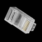 Crystal RJ45 Plug Network Connectors - Transparent (100PCS)
