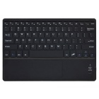 "bluetooth V3.0 tastatur PU sak m / touchpad for tablet 9 ~ 9.7"" - svart"