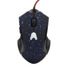 6-Keys 800/1200/1600dpi Snow Point Bright Light Wired Gaming Mouse for Game Athletics