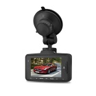 "2.7"" TFT super 1296P 178 ° auto DVR camera 5.0MP HDR GPS logger - zwart"