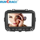 "Rungrace 8"" TFT Screen Car DVD Player w/ Bluetooth, GPS, RDS for Kia Carens - Black"