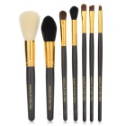 7-in-1 Professional Cosmetic Makeup Brushes Set - Coffee + Multicolor