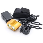 ZHISHUNJIA XM-L T6 2-LED 4-Mode White Bike Light Headlamp - Golden