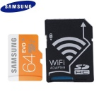 SAMSUNG 64GB microSDXC Class 10 Flash Memory Card with WiFi SD Adapter