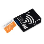 SAMSUNG 64GB microSDXC klasse 10 flashminnekort m / wifi SD-adapter