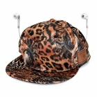 Creative Leopard Print Smart Bluetooth V3.0 Earphones Stereo Music Sun Hat / Peaked Baseball Cap