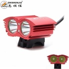 ZHISHUNJIA XM-L T6 2-LED 2000lm 4-Mode White Bicycle Light / Headlamp - Red (4 x 18650)