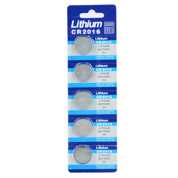3V CR2016 Lithium Manganese Button Cell Battery (5PCS)