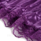 Ultra Sexy Lace + Satin Smooth Silky Dress Nightwear Suit - Purple