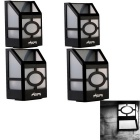 YouOKLight White LED Wall Mounted Solar Garden Lamp - Black (4PCS)