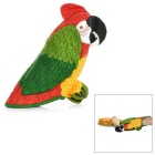 Cute Parrot Style Kitchen Microwave Heat Insulation Cotton Glove - Red + Yellow + Multicolor