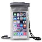 "Outdoor PVC Waterproof Case w/ Lanyard for 5.5"" Phones - Black + Grey"