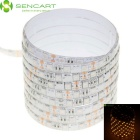 SENCART Waterproof 75W 5050 SMD LED Light Strip Yellow 590nm 4500lm (DC 12V / 500cm)