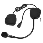 hjelm montert bluetooth V3.0 hands-free intercom headset - svart