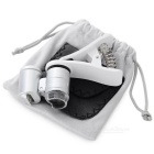 Clip-On Microscope Lens w/ 2-LED White + 1-LED Purple Light - Silver