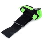 Outdoor Nylon Sports Armband for Samsung + IPHONE + More - Green+Black