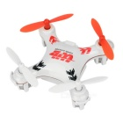 WLtoys V676 Mini 2.4GHz 4-CH Outdoor R/C UFO Helicopter Aircraft w/ 6-Axis Gyro / Lamp - White + Red