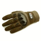 OUMILY Adjustable Breathable Tactical Full-Finger Gloves - Brown (L)
