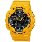 Genuine Casio G-Shock GA-100A-9ADR Men's Standard Analog-Digital Watch - Yellow