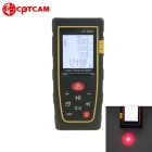 "CPTCAM CP-80S Portable 1.8"" 80m Laser Rangefinder Distance Measuring Meter - Yellow + Black(2 x AAA)"