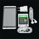 X-BO V10 Android 4.4.2 Phone w/ 512MB RAM, 4GB ROM - White + Silver