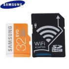 Samsung 32GB Micro SDXC Class 10 Flash Memory Card w/ Wi-Fi SD Adapter - Black + Deep Orange