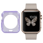 Protective TPU Dial Screen Protector Case for APPLE WATCH 38mm - Translucent Purple