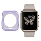 Protective TPU Dial Screen Protector Case for APPLE WATCH 42mm - Translucent Purple