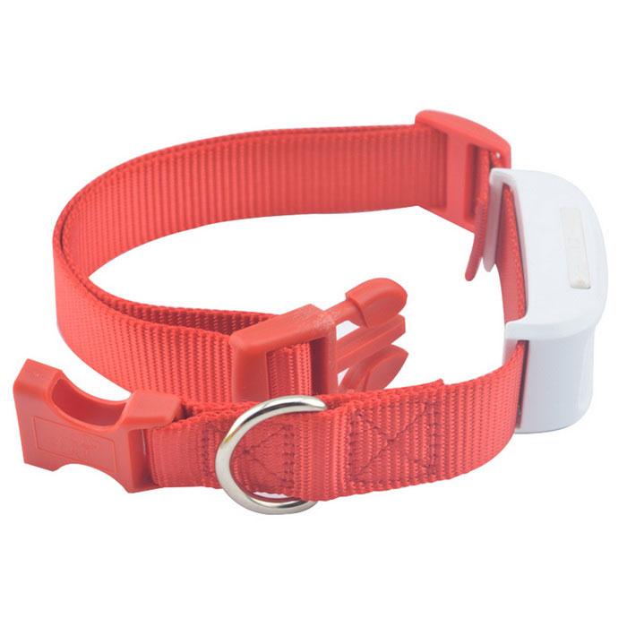 TKSTAR Mini Waterproof GSM / GPRS / GPS Strap Tracker for Pet Cat / Dog /  Pig - White + Red