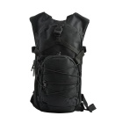 Outdoor Nylon Double-Shoulder Bag Backpack for Cycling, Camping, Travelling & More - Black