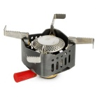 Resolutes Outdoor Camping Picnic Cooking Gas Stove Burner - Grey