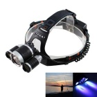 KINFIRE T6 R3 3-LED 1650lm 4-Mode White + Blue Headlamp for Fishing