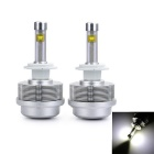 Marsing 2S H4 30W 3000lm 6500K LED White Head / Fog Lamp for Car