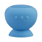 Portable Suction Cup Mount Mini Bluetooth V4.0 Speaker w/ Handsfree - Light Blue