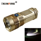 KINFIRE K88X  XM-L T6 8-LED 4800lm 3-Mode High Power LED Flashlight - Golden Yellow
