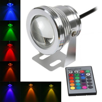 Waterproof 10W 800lm Colorful Light COB LED Spotlight - Silver (DC12V)