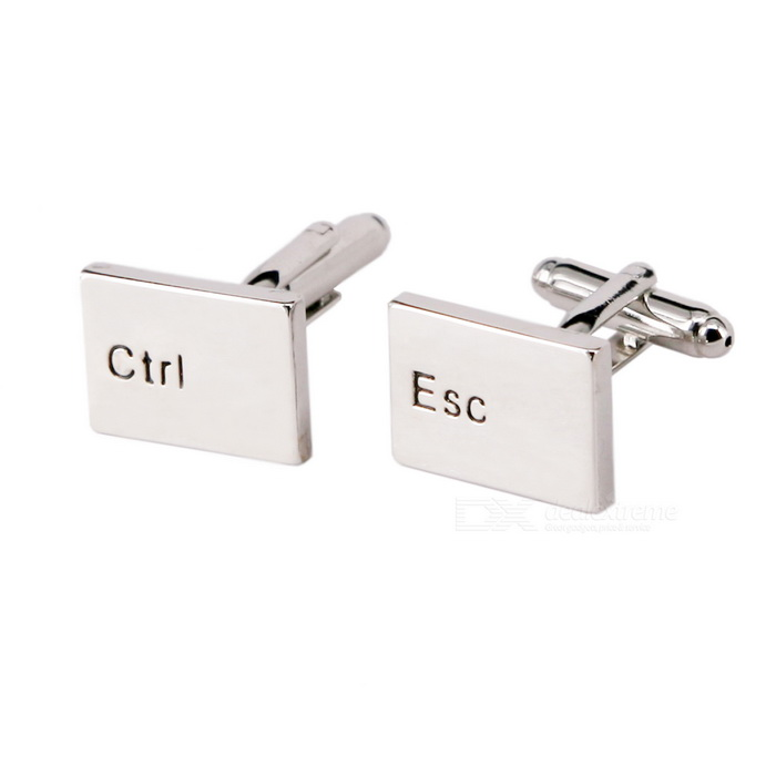 CTRL + ESC Keyboard Cuff Links/Buttons (Pair)